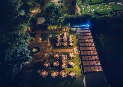 Villa Bernardini dall'alto